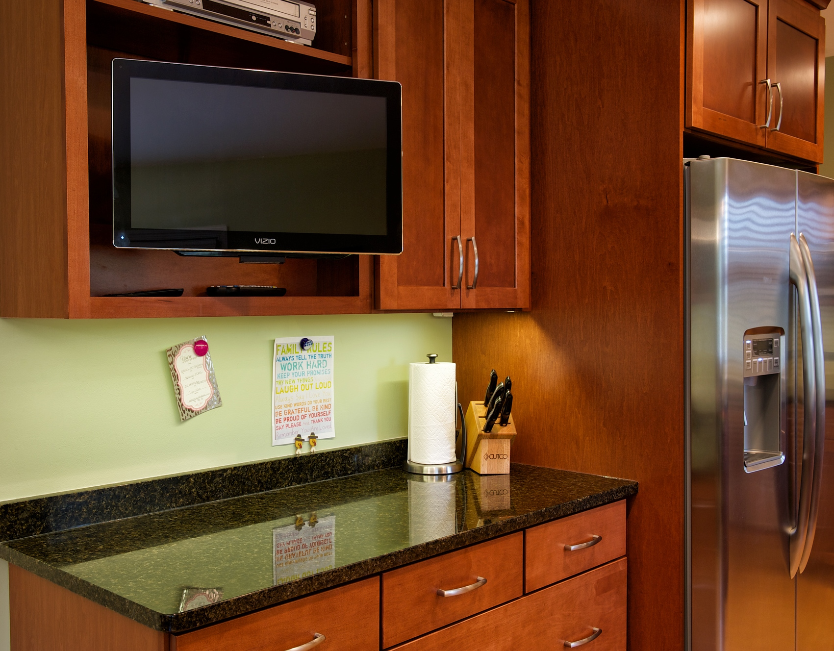 PROJECT OVERVIEW. Kitchen   Transitional Warm Wood Cabinets
