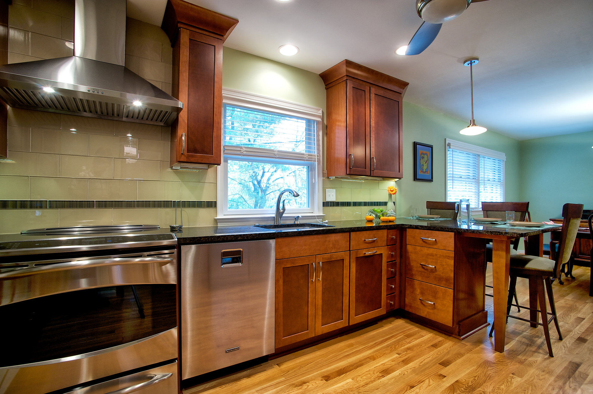 kitchen transitional warm wood cabinets 1234